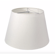 Simon Pearce PEMBROKE LINEN SHADE — WHITE 14''