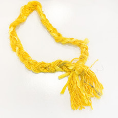 Epiphany Throws Braided Silk Necklace- yellow