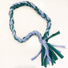 Epiphany Throws Braided Shirt Necklace- blue/green