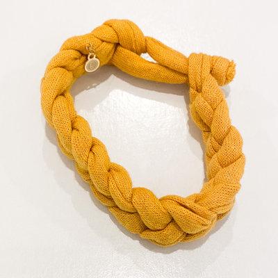 Epiphany Throws Braided Shirt bracelet- yellow