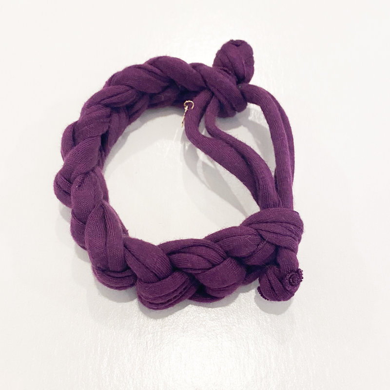 Epiphany Throws Braided Shirt bracelet- purple
