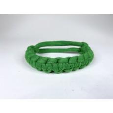 Epiphany Throws Braided Shirt bracelet- green