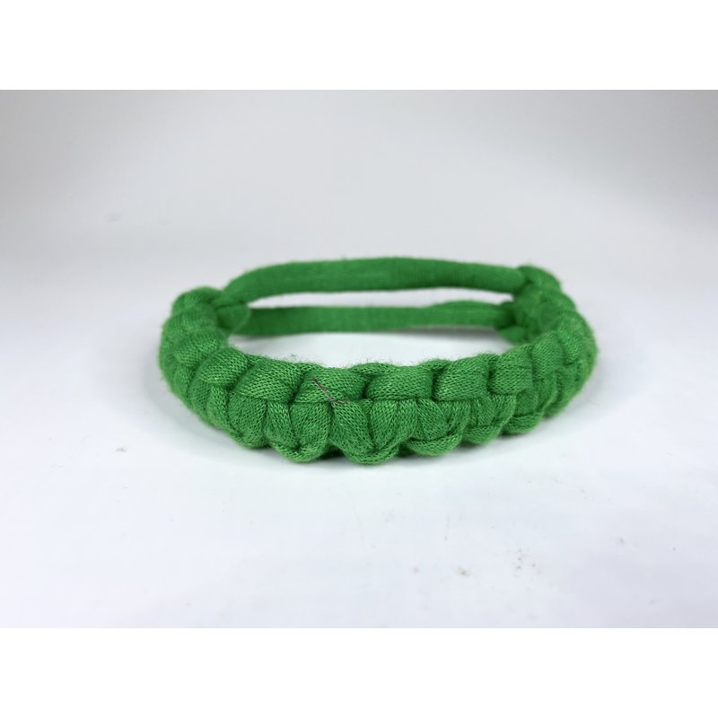 Epiphany Throws Braided Shirt bracelet- green