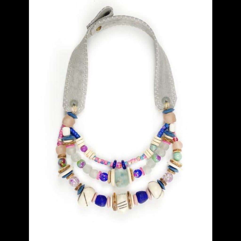 Twine & Twig Layered Classic Necklace- Tie Dye
