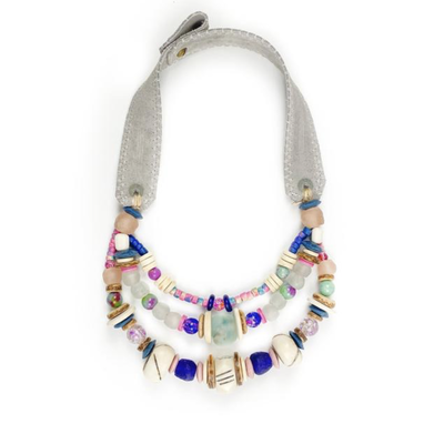 Twine & Twig Layered Classic Necklace- Tie Dye