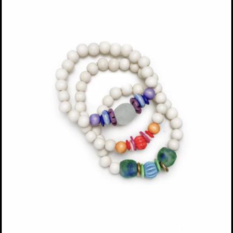 Twine & Twig Trio Stack Bracelet Set - Multi