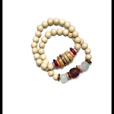 Twine & Twig Duo Bracelet Set | Lavender | Leukemia