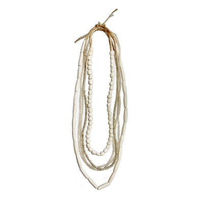 Twine & Twig White Layer Necklace Set