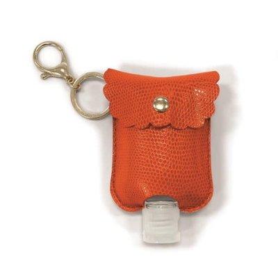 Two's Company Refillable Hand Sanitizer Key Chain Orange