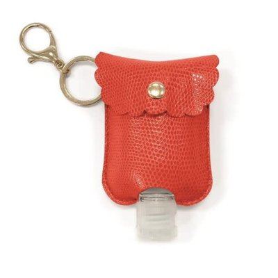 Two's Company Refillable Hand Sanitizer Key Chain Pink