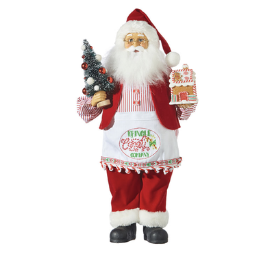 Raz 19'' Kringle Candy Santa with Apron