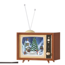Raz 6'' Animated Musical TV- brown tv