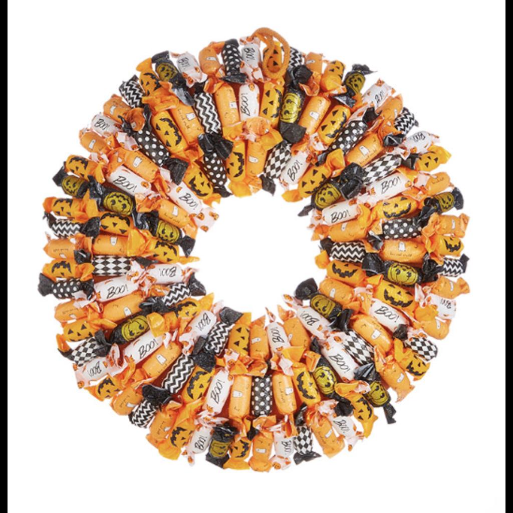 Raz 20'' Halloween Candy Wreath