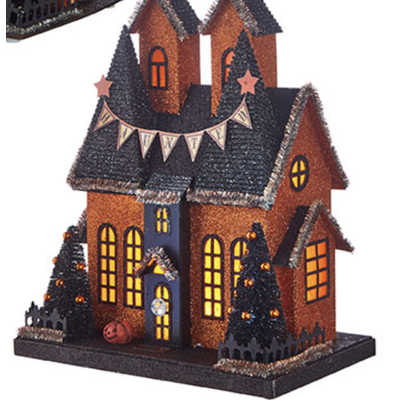 Raz 12.25'' Lighted Haunted House 2
