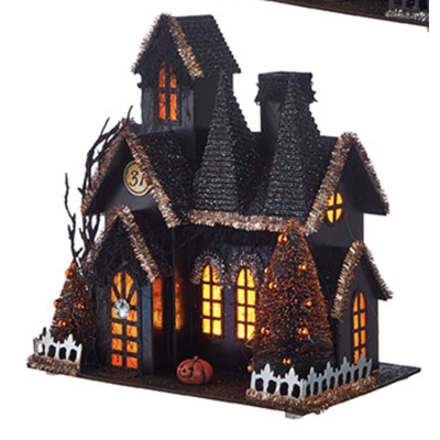 Raz 12.25'' Lighted Haunted House 3