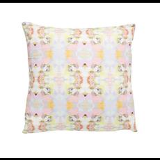 Laura Park Laura Park Brooks Avenue Pink Linen Cotton Pillow (22''x 22'')