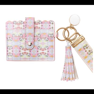Laura Park Laura Park Brooks Avenue Pink Wristlet Wallet