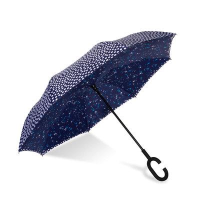 ShedRain UnbelievaBrella Quincy/Navy Dual Print Umbrella