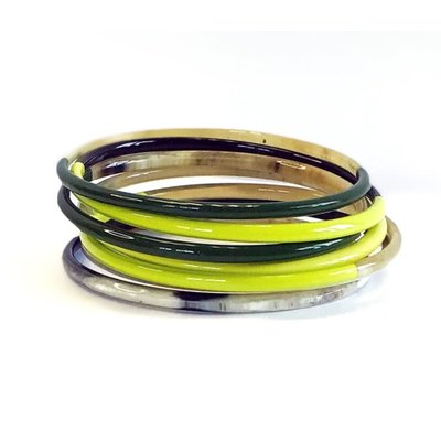Sunshine Tienda Green Horn Bangle Set