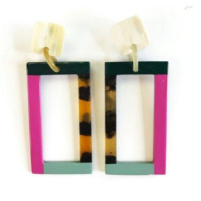 Sunshine Tienda Mixed Colorblock Earrings