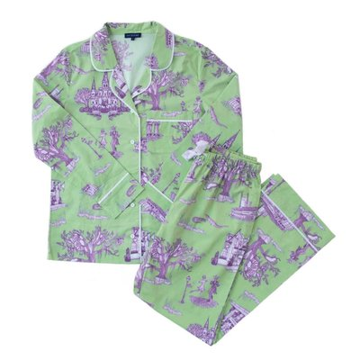 Katie Kime Katie Kime New Orleans Toile Green Long Sleeve