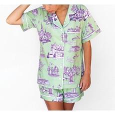 Katie Kime Katie Kime New Orleans Pajamas Green Short Sleeve