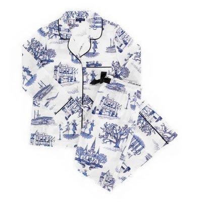 Katie Kime Katie Kime New Orleans Toile Pajamas Navy Long Sleeve