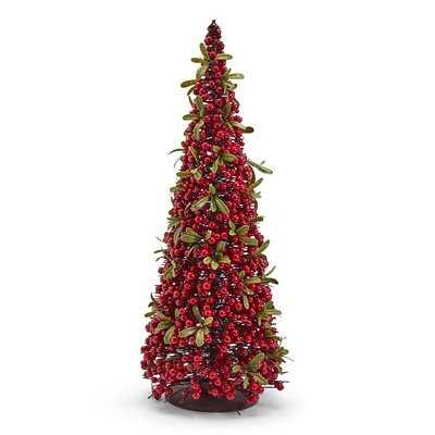 Two's Company Red Berry Christmas Tree Large