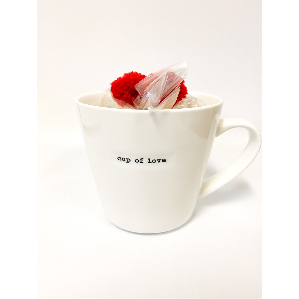 Two's Company Mug with Star Marshmallows-cup of love