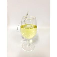 Two's Company Happy Hour Ornament- white wine