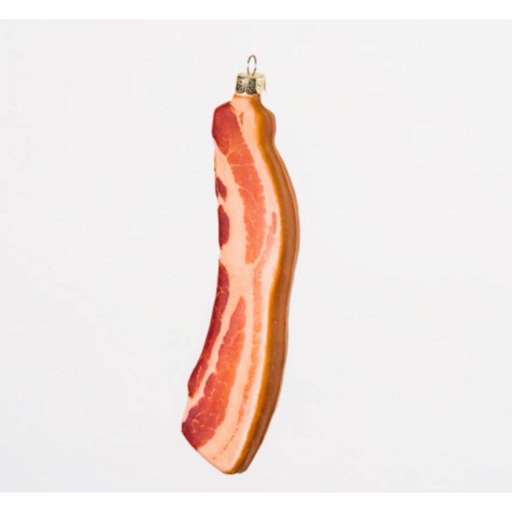 One Hundred 80 Degrees Glitter Bacon Ornament
