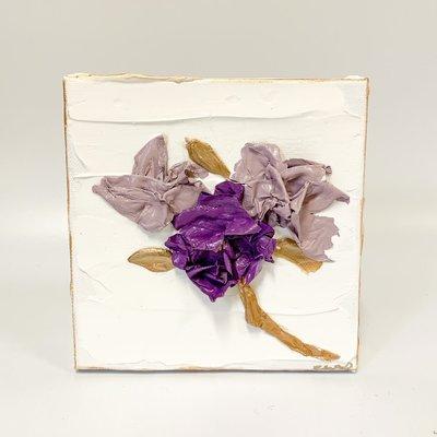 Eden Gorney Forever Flowers 6 x 6 Purple