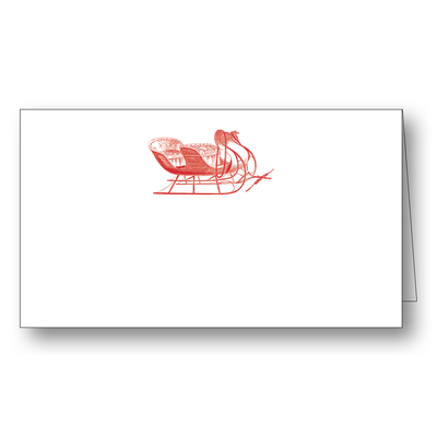 Maison de Papier Sleigh Placecard