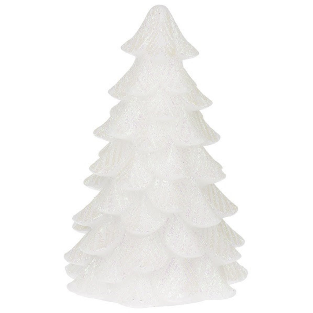 Ganz 6.5'' Wax Glitter Tree White