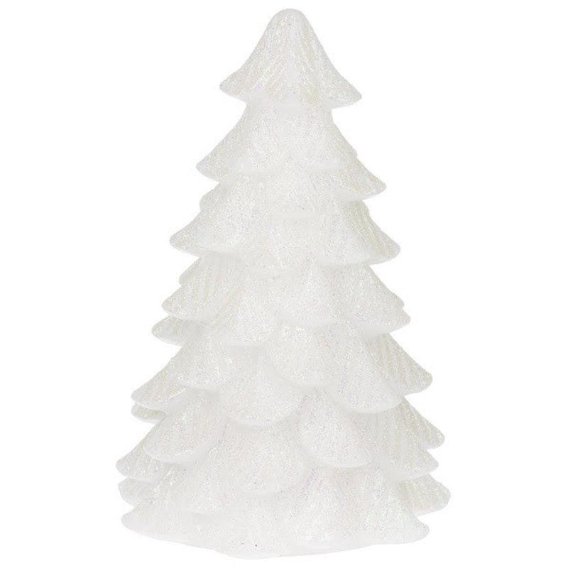 Ganz 6.5'' Wax Glitter Tree White