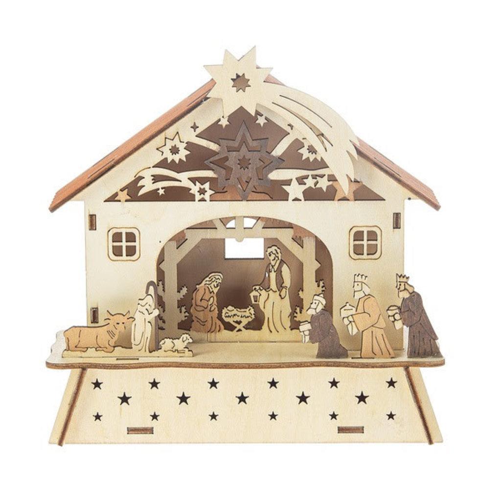 Ganz Light Up Laser-Cut Nativity Scene