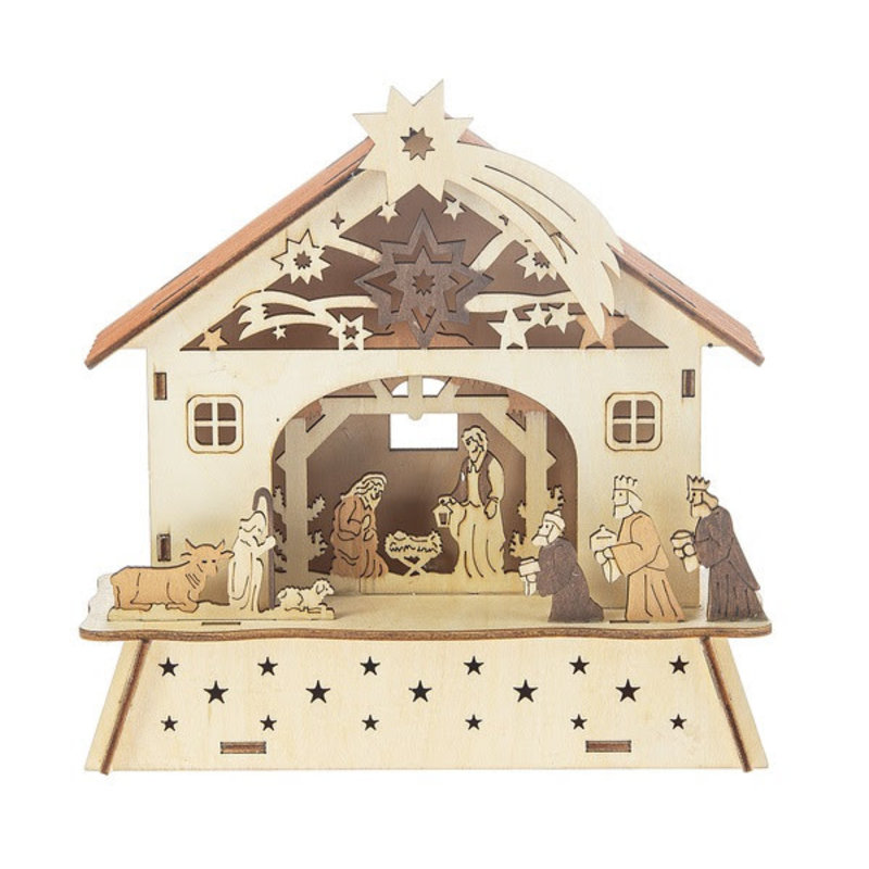 Ganz Light Up Laser-Cut Nativity Scene