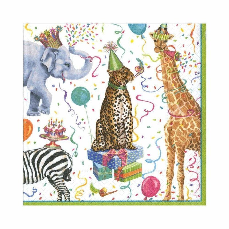 Caspari Party Animals Napkin Luncheon