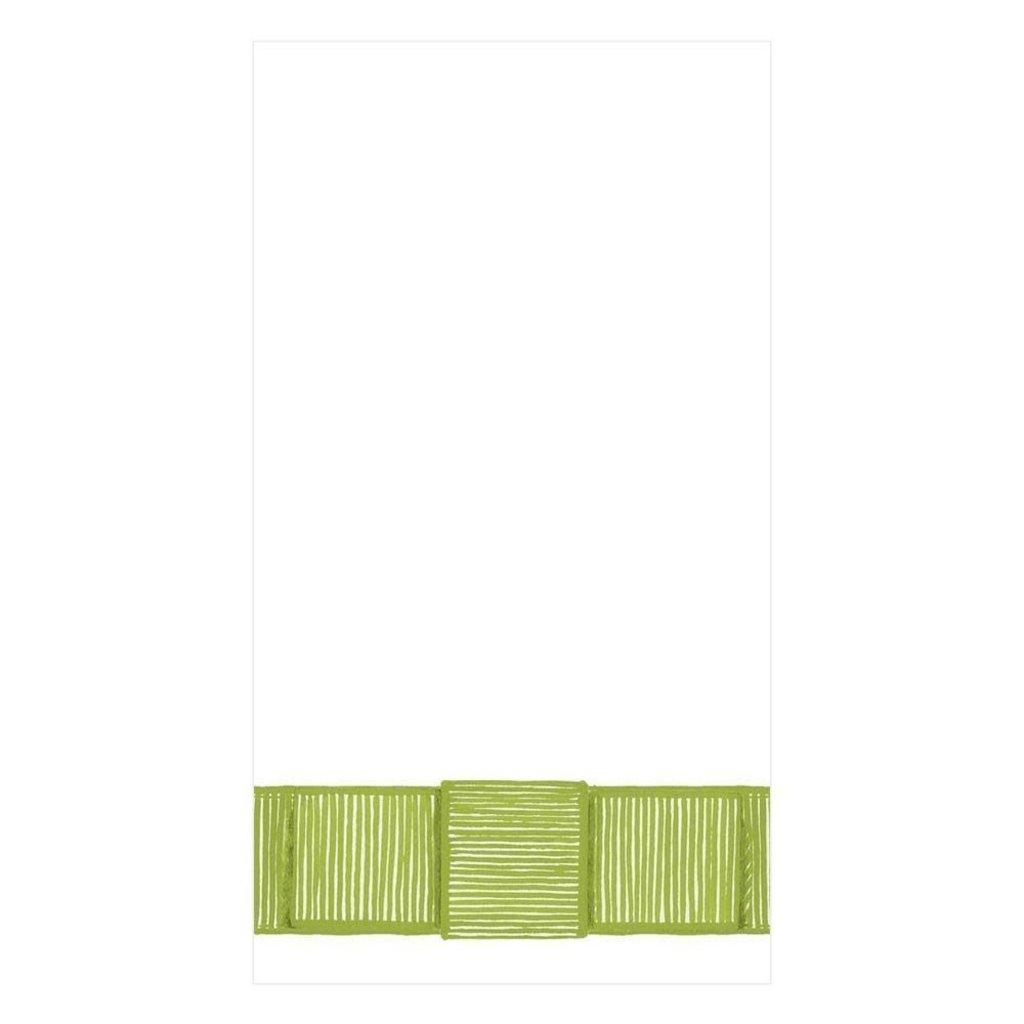 Caspari Ribbon Border Guest Towel