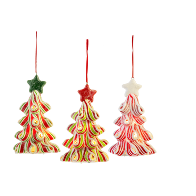 Ganz Lighted Candy Tree Ornament