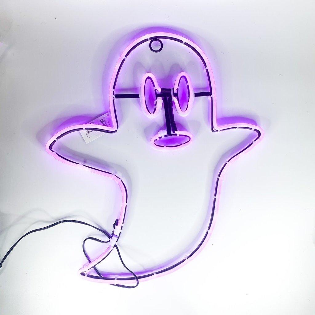 One Hundred 80 Degrees Ghost LED Sign