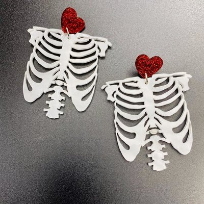 Poly Paige Rib Cage Earrings