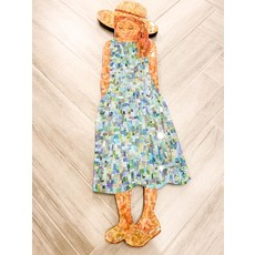"Cynthia Kolls Consignment Cynthia Kolls ""Little Tourist"" Girl 12'' x 37''"