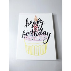 Sassy Banana Happy Birthday- cupcake card