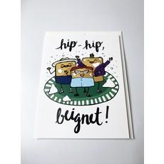 Sassy Banana Hip-hop Beignet Card