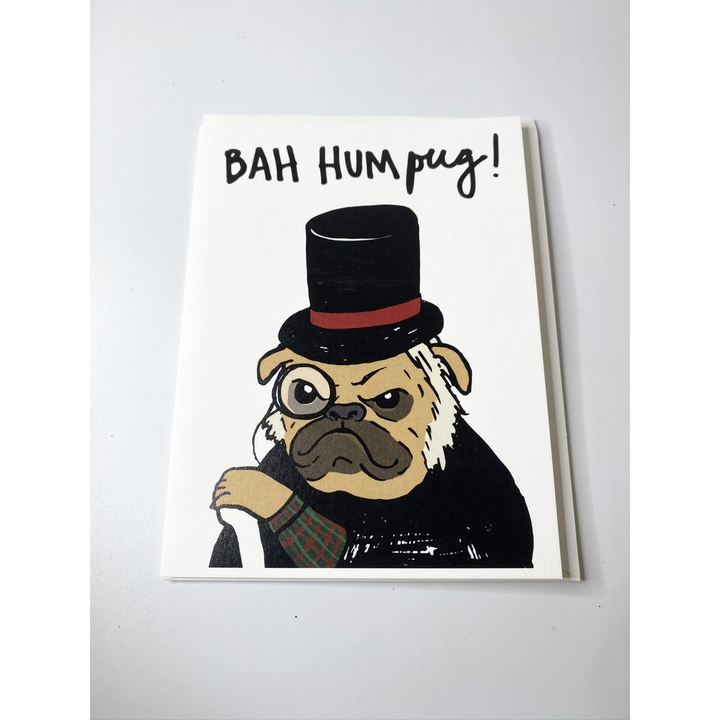 Sassy Banana Bah Hum Pug card
