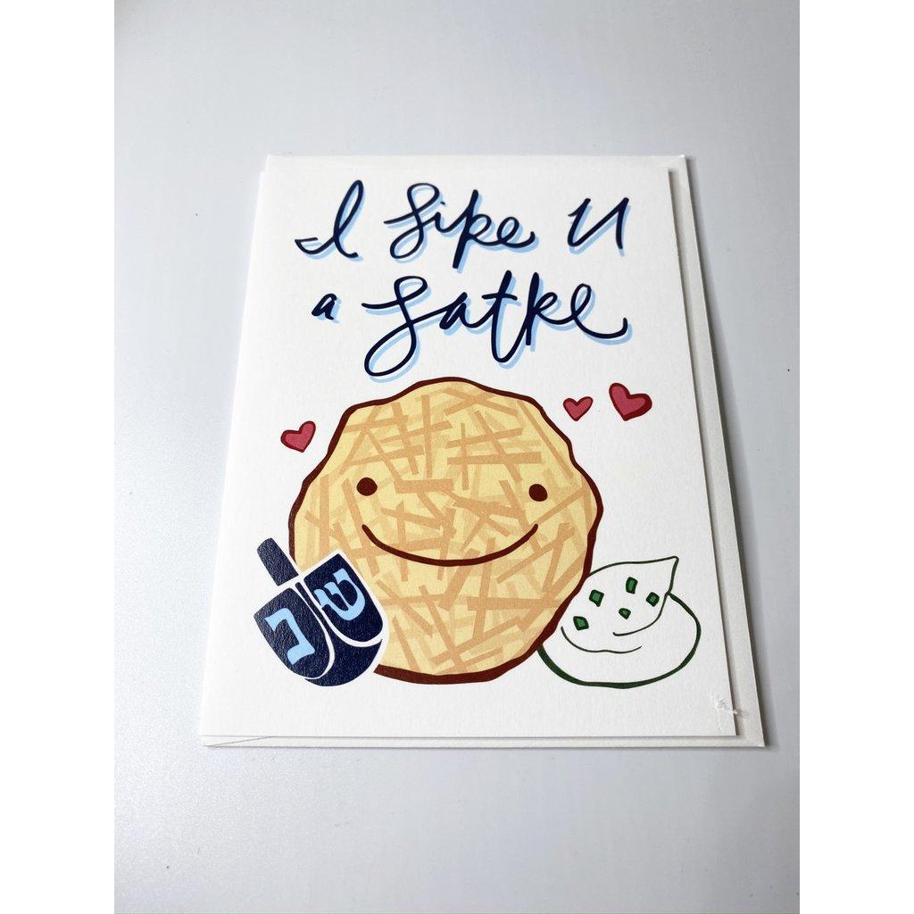 Sassy Banana I like U a Latke card