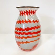 Ridge Walker Glass Ridge Walker Red Zig and Zag Vase
