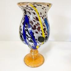 Ridge Walker Glass Tall Splatter Vase