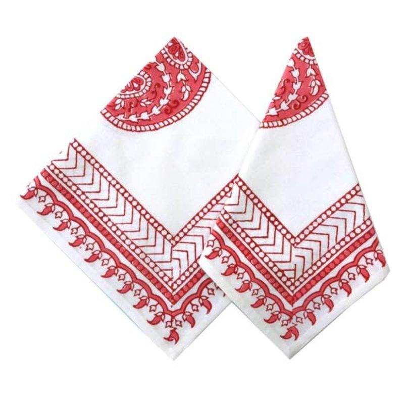 Pacific & Rose Textiles Block Prink Napkins